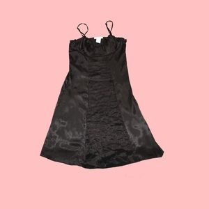 Black Little Satin Dress